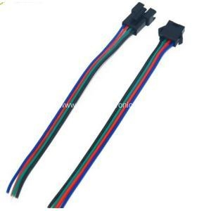 China JST SM 4 Pin Male to Female Connector Jumper Wire on sale