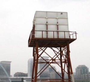 China 100 cbm FRP panels assembled tank for fire fighting water storage on the roof on sale