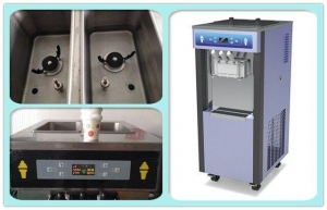 China High Efficiency Soft Ice Cream Vending Machine / Ice Cream Maker on sale
