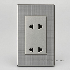 China 118K-06 2016 New Design Stainless Steel Plate Standard Grounding Duplex Receptacle on sale