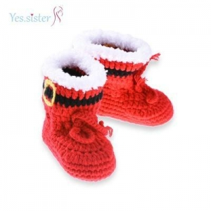 China Cute Boots Crochet Baby Booties on sale