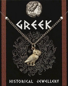 China Greek Owl Pendant - Gold Plated on sale