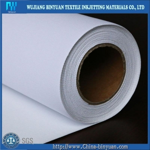 China By-C8-A 380gsm Waterproof Matte Inkjet Poly Cotton Canvas fabric Roll Plotter on sale
