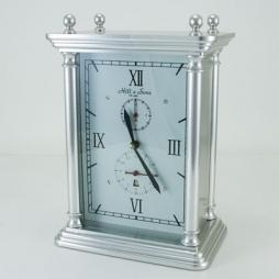 China CLOCKS 8 Day Table Clock-Silver-with Alarm on sale