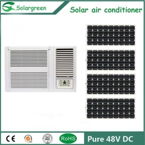 China 12V 24V 48V DC Off Grid Solar Window Air Conditioner with High EER on sale