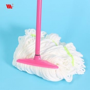 China Hot Sale WJ2827 home use cleaning floor Microfiber mop with iron stick on sale