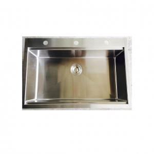 China Stainless Steel Kitchen Sink VSHMTS-3322 (33x22x9) Drop In & Top mount Handmade on sale