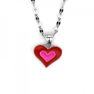 China Fashion christmas jewelry silver heart shape pendant on sale
