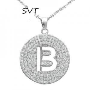 China SVT0707 Fashion Sterling silver letter pendant initial pendant on sale