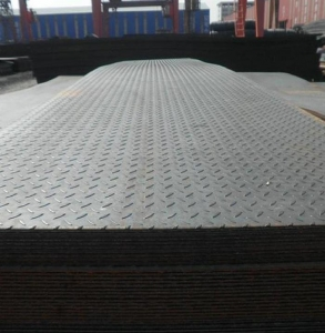 China top quality hot rolled ms chequered plate thickness 2.0mm with different weight on sale