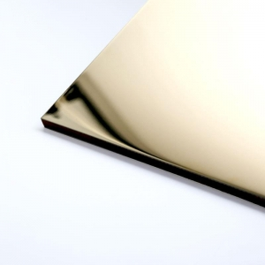 China 201 304 grade 4x8 Mirror Finish Gold Mirror Stainless Steel Sheet For Decoration on sale