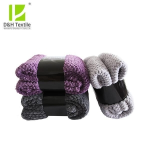China Factory price quality Soft Waffle Blanket With Satin Trim supplier